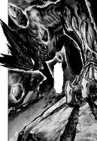 Garou gradually becoming more and more like a monster Manga