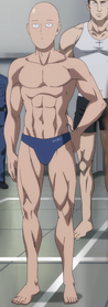 Saitama's true physique (anime)