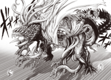 Orochi unleashes dragons from his body