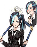 Lily of the three section staff