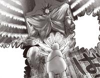Roi des Monstres sur son trône