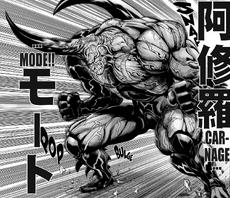 Kabuto in Carnage Mode Manga