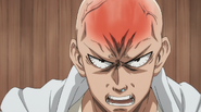 Bang derrotando a Saitama en piedra, papel o tijera