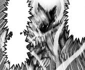 Гароу использует вихрь, поток, кулак сдвоенных клыков убийц драконов, манга.png