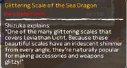 Glittering Scale of the Sea dragon