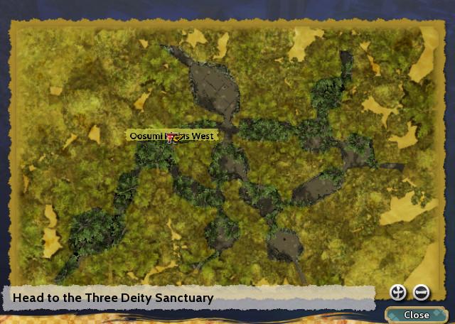 Head to the Three Deity Sanctuary