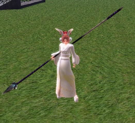 Adorned Bamboo Spear