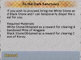 To the Dark Sanctuary