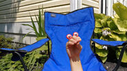 Edgy-Oobi-hand-puppets-Art-lawn-chair