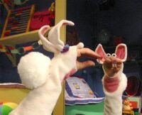 Oobi-Uma-rabbit-costume-mirror