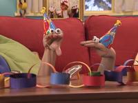 Oobi-Uma's-Birthday-Kako-party-hat
