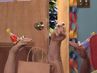 Oobi-Uma's-Birthday-Grampu-with-bags
