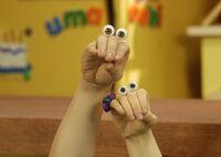 Noggin Oobi and Uma Hand Puppets Characters Nick Jr. Nickelodeon