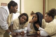 04x07, Taystee, Crazy Eyes, Alison, Cindy