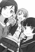 Kirino, Ayase, and Kuroneko announce their future intentions