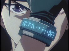 Orphen using the bracelet.png