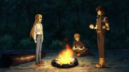 Orphen's camp in Fenrir Forest
