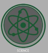 Science emblem concept