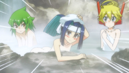 The figurines at the hot spring