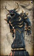 Demon Statue Concept Art