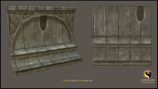Ancient Stone Wall 3d Model