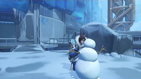Mei emote snowman