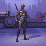 Genji Skin Overwatch League Gray