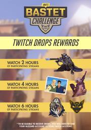 Chart of Ana's Bastet Challenge Twitch Rewards