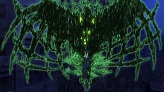Yōichi Saotome usando a Gekkōin (anime)
