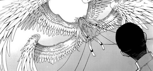 Apariencia de Mirai como serafín (Manga)