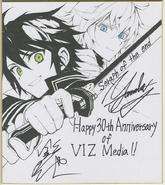Yu and Mika Viz Media 30th year anniversary art