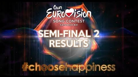 Own Eurovision Song Contest 41, Semi-final 2 Results