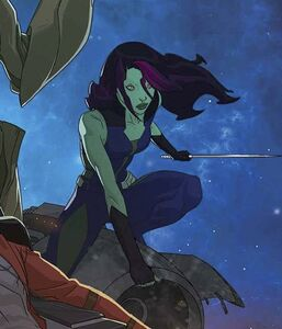 Gamora (Earth-12041) from Marvel Universe Guardians of the Galaxy Vol 1 1