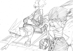 Naruhata Vigilantes Kohei Horikoshi sketch