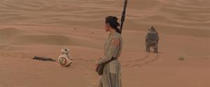 Rey encounters BB-8