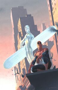 Silver surfer spiderman