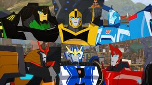Bee Team and Blurr (Sphere of Influence)