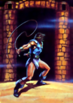 Castlevania - Simon Belmont lashing out his whip as he sets forth to vanquish Dracula... once again as seen on page 75 of Nintendo Power's Super Castlevania IV Issue