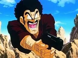 DBZ Mr. Satan with Gun