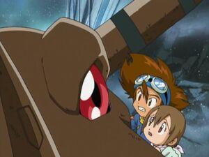 Taichi, Hikari & Greymon (02)