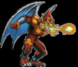Demon's Crest - Firebrand spitting out a fireball