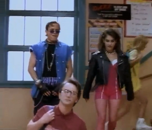 Billy Cranston and Kimberly Hart under punk spell to disrupt the team nature of the rangers