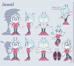 Jewel the Beetle - Model Sheet