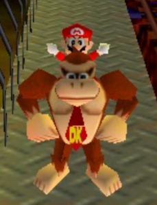 Mario party 64 dk and mario in the rail mine