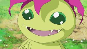 Palmon smile