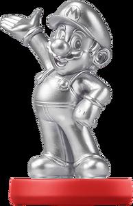 Silver Mario Amiibo Artwork