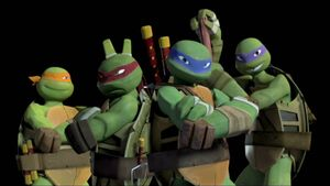 Turtles in the Opening Scene