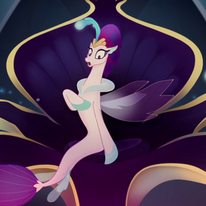 Queen Novo gasping in shock MLPTM 1.png