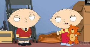 Stewie meets himself