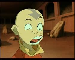 Aang's funny face